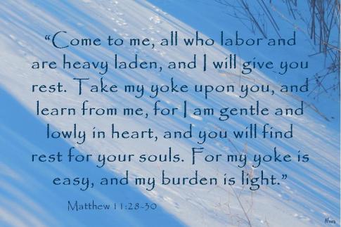 Matthew 11.28-30